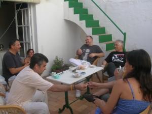 Antonio Orihuela, el Niño de Elche, Daniel Macías & JC en Moguer (julio de 2013)