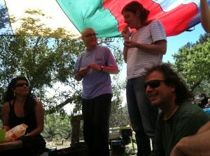 Leire, Usó, Laia y Bouso en una itaka party