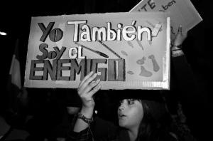 Manifestante en Valencia