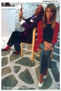Dalí con Francoise Hardy